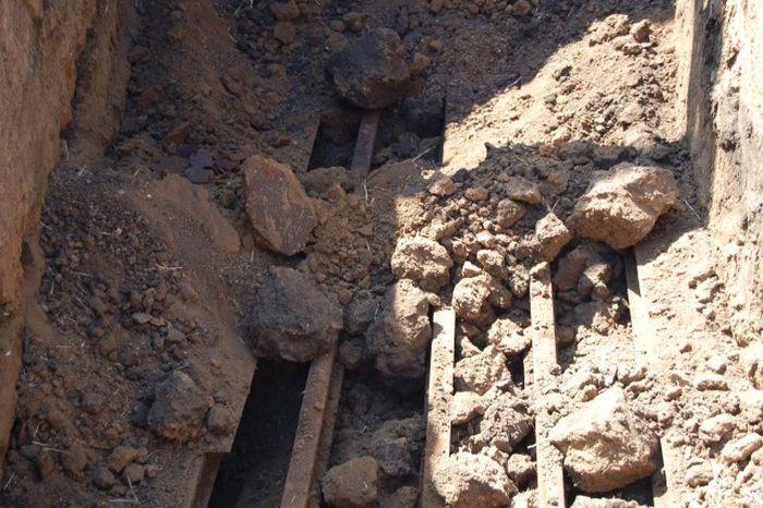 Раскопки немецкого подземного бункера в Ростовской области