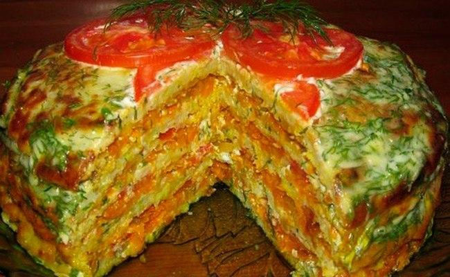 Капустный тортик-отличная овощная закуска