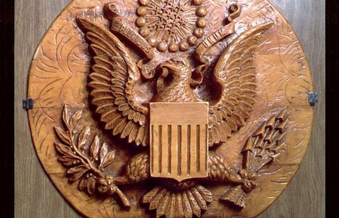Снимок Большой печати с жучком из архивов АНБ.