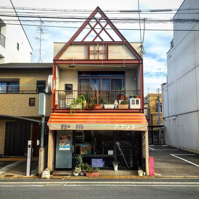 """Магазин """"Кисса Апурико"""" архитектура, дома, здания, киото, маленькие здания, местный колорит, фото, япония"""