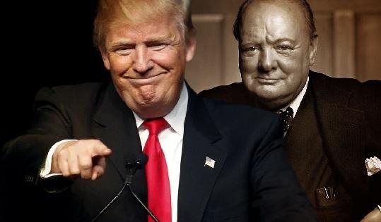 Бюст Черчилля вернулся вОвальный кабинет после инаугурации Трампа