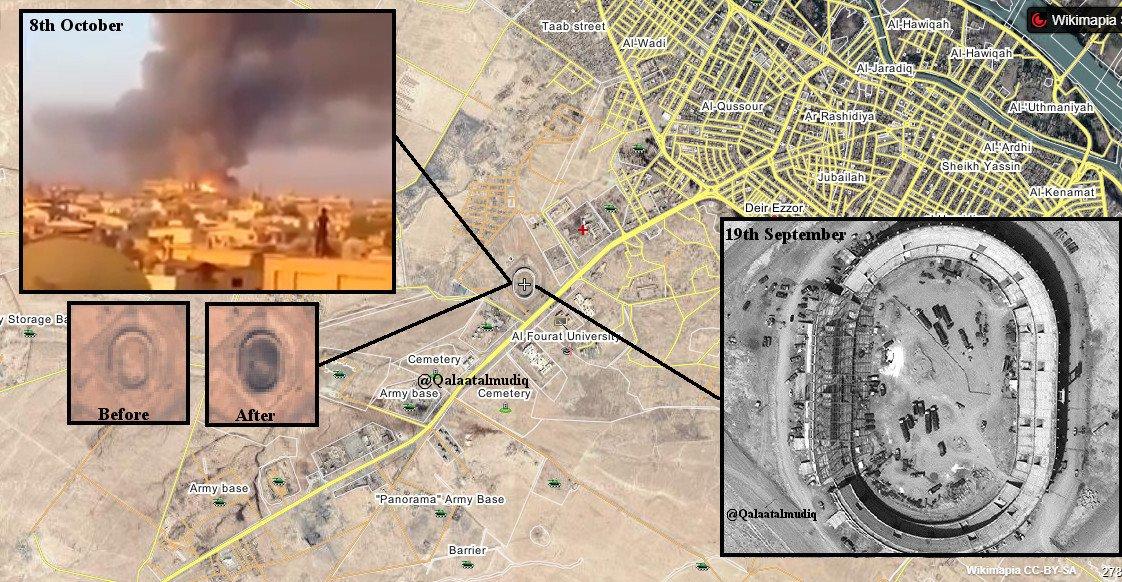 Склад боеприпасов в Дейр-Эз-Зор уничтожен бомбовым ударом БЛА Халифата 8 октября
