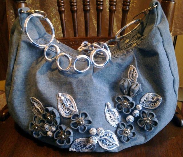Как украсить сумку своими руками из джинсов