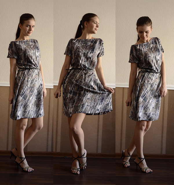 Шьем платье-тунику из шелка за полчаса