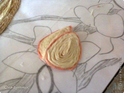 Картина панно рисунок Мастер-класс Моделирование конструирование Филигранный павлин МК Шпагат фото 22