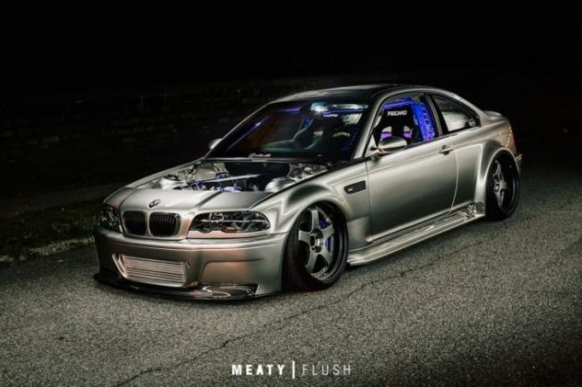 Невероятно крутой BMW M3 E46 с нагнетателем и пневмоподвеской