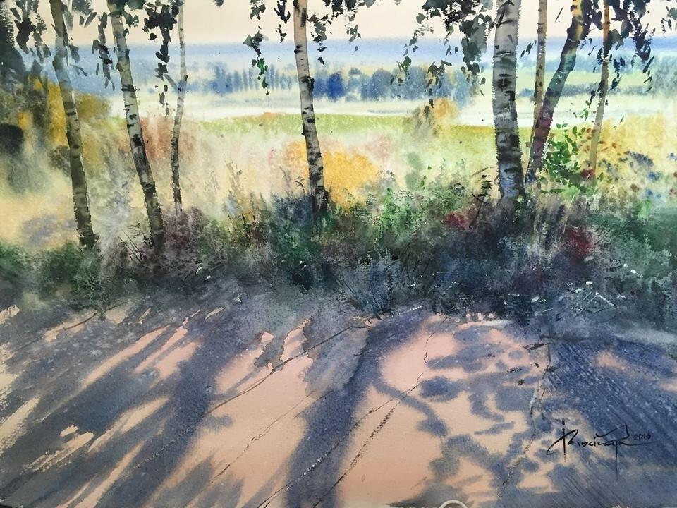 «Природа вступит в вечные права свои…» замечательные пейзажи акварелью Игоря Мосийчука