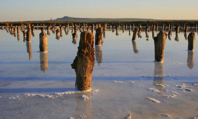 5. Озеро Баскунчак, Ахтубинский район, Астраханская область путешествия, россия, топ, топ-10, факты