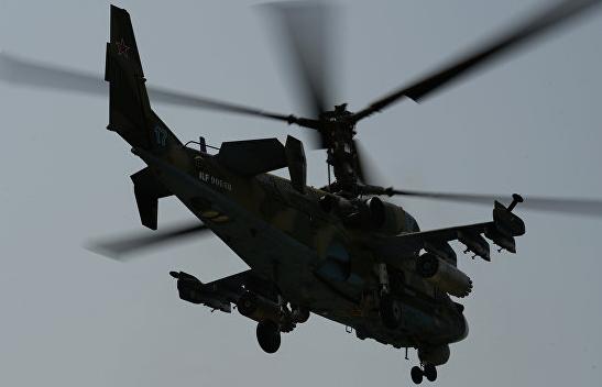 В Сирии при выполнении планового полёта потерпел крушение российский вертолёт Ка-52