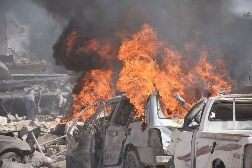 В ходе взрыва в Манбидже пог…