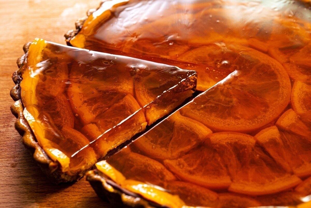 Апельсиново-шоколадный пирог «Солнце». Очень эффектный и красивый десерт