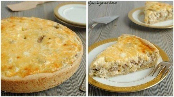 Очень вкусно! Лоранский пирог с курицей и грибами