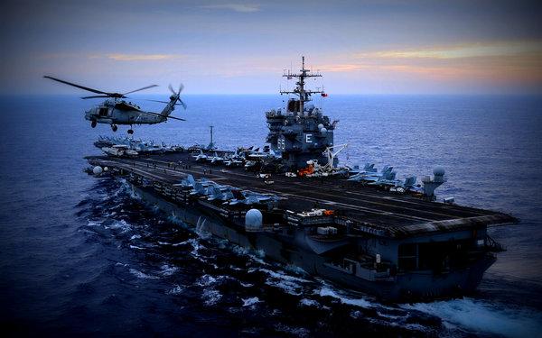 Как русский летчик с японского авианесущего корабля вертолет снес
