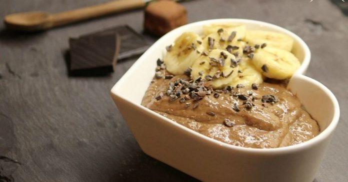 Творожно-банановый шоколадный десерт. Худейте вкусно!