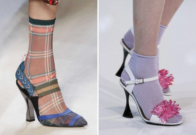 босоножки на носки тренд этого сезона