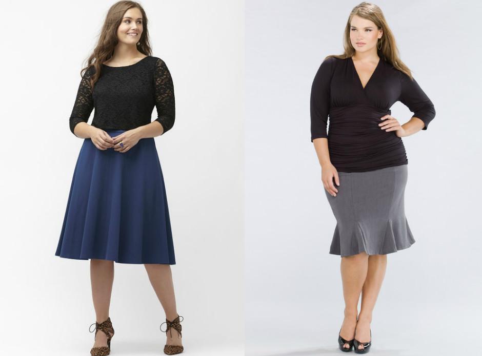 Модели юбок для полных женщин