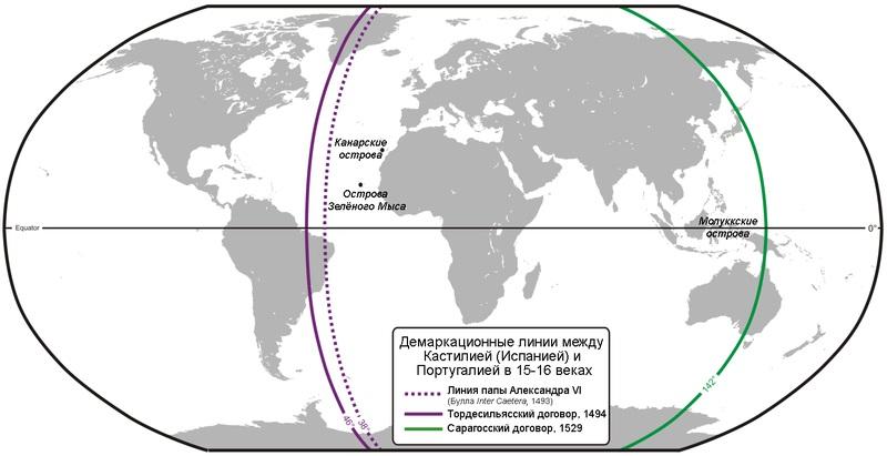 Как Испания и Португалия мир делили