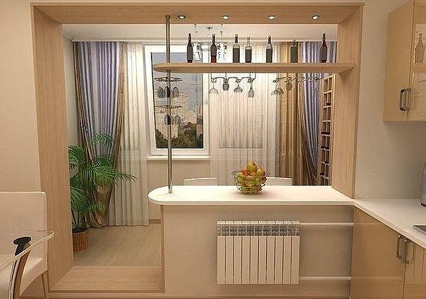 Балкон, присоединенный к кухне, как вам идея?