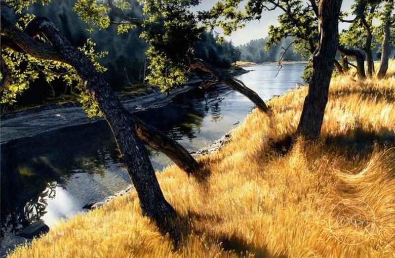 Акварельный реализм: удивительные пейзажи Кэрол Эванс