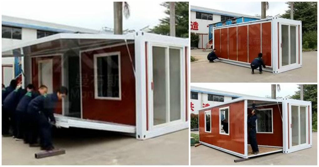 Необычный дом-контейнер — 10 минут, и дом готов
