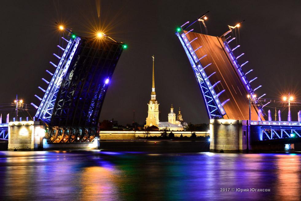 Ночь. Петербург. Мосты. Красиво