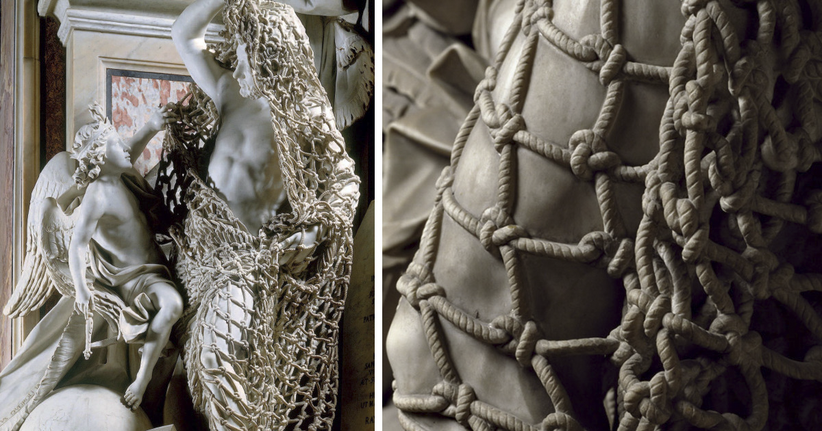 People Can't Believe The Net On This Sculpture By Italian Artist Is Also Made From Marble