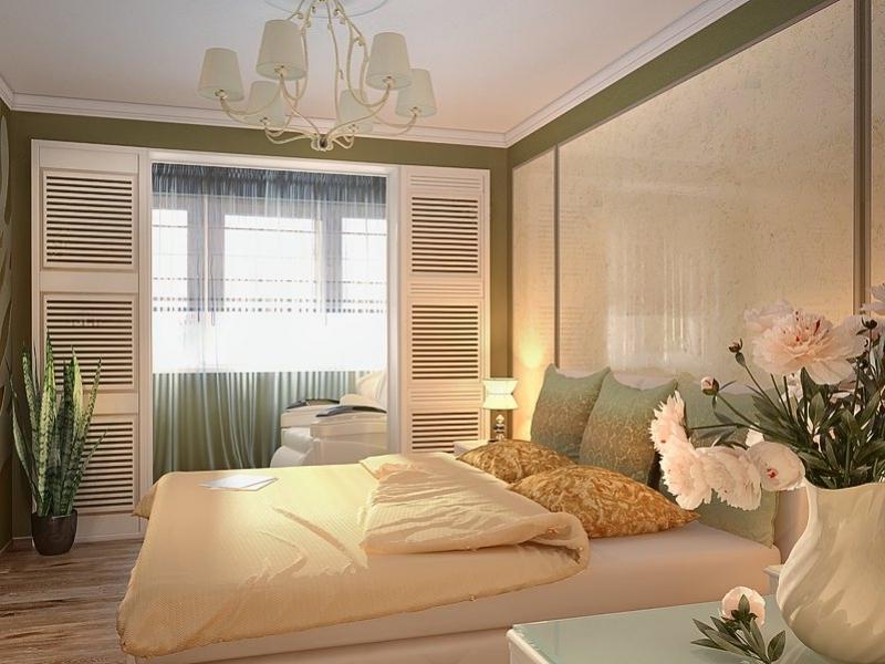 Спальня совмещенная с балконом - только ремонт своими руками.