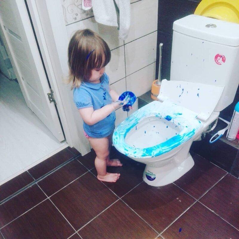 13. «Повезло, что эти краски легко отмываются» дети, забавно, подборка, родители, тишина, юмор