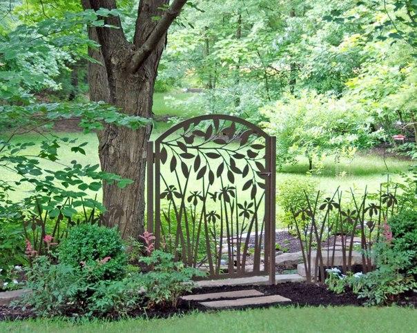 Декоративные ограждения в саду