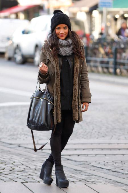 Что носят зимой девушки фото