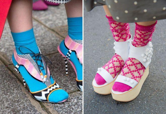 какие носки носить с босоножками