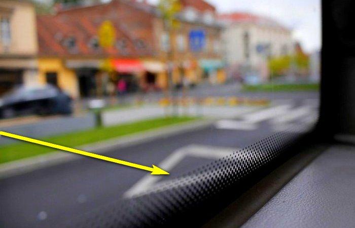 Что это за чёрные точки на стеклах авто и зачем они нужны