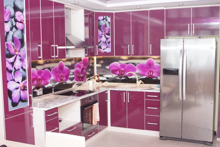 Моя кухня — фиолетовый для любимой тещи
