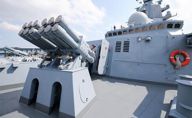 В создании оружия для флота …