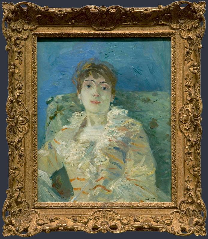 Берта Моризо - Девушка на диване. Национальная галерея, Часть 1