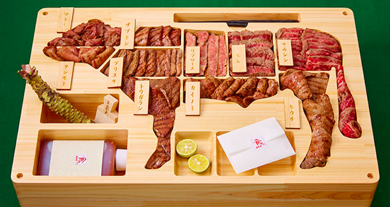 Лучший подарок истинным любителям мяса: бэнто с премиальной мраморной говядиной из Японии