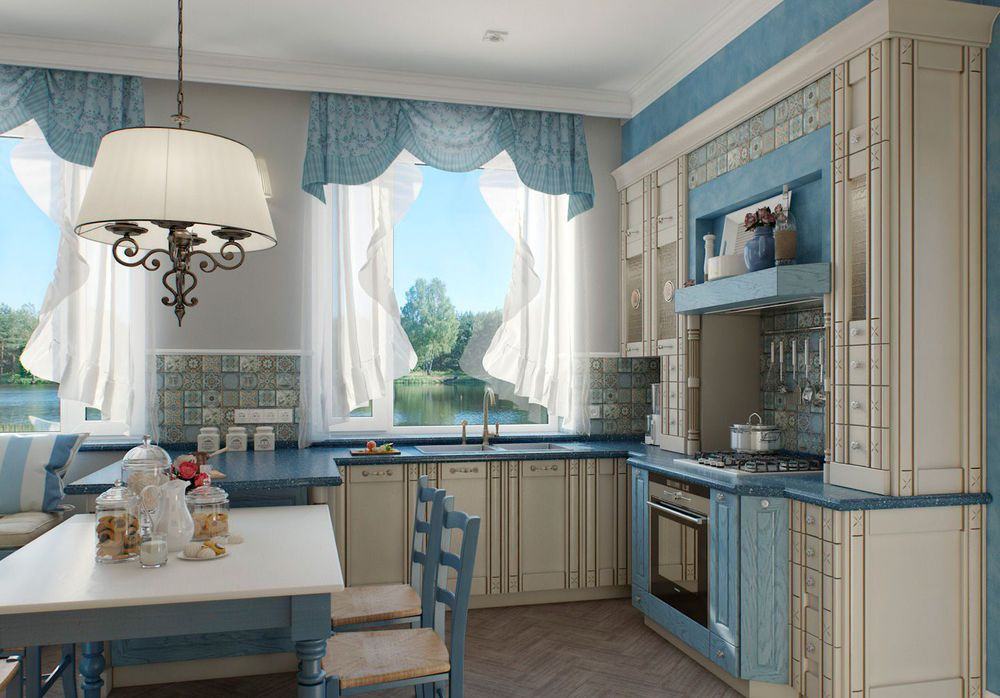 49 идей для пошива кухонных штор и занавесок