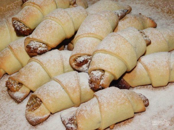 Рогалики с грецкими орехами