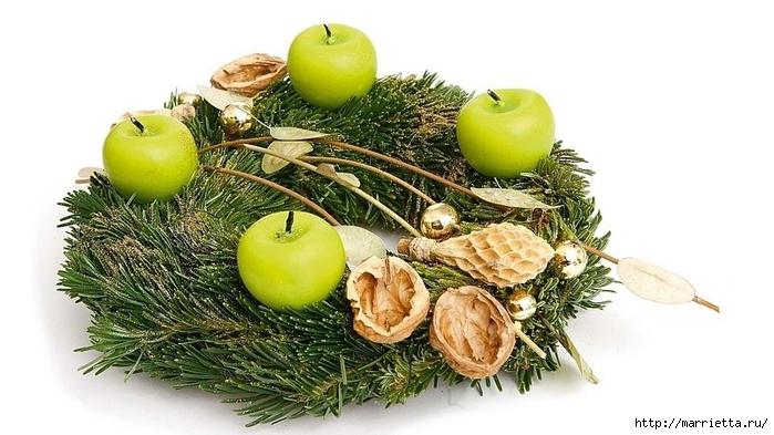 рождественский венок из грецких орехов (17) (700x393, 198Kb)