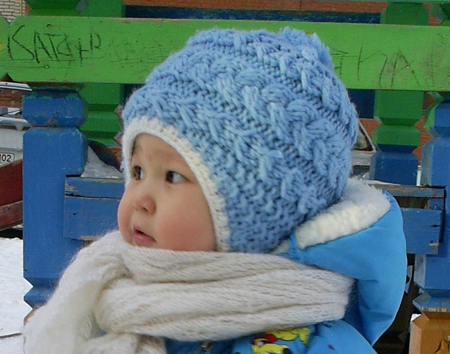 Видео вязание детской шапочки спицами