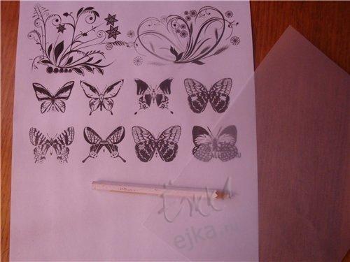 Нежные бабочки из кальки!