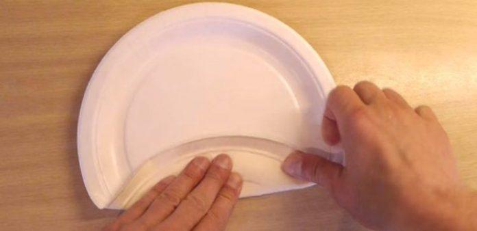 Контейнер для хранения пищевых продуктов из обычной бумажной тарелки!