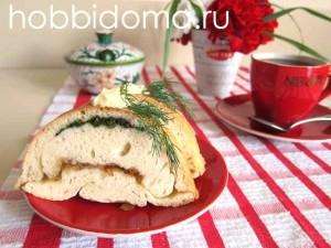 Пирог с луком и укропом