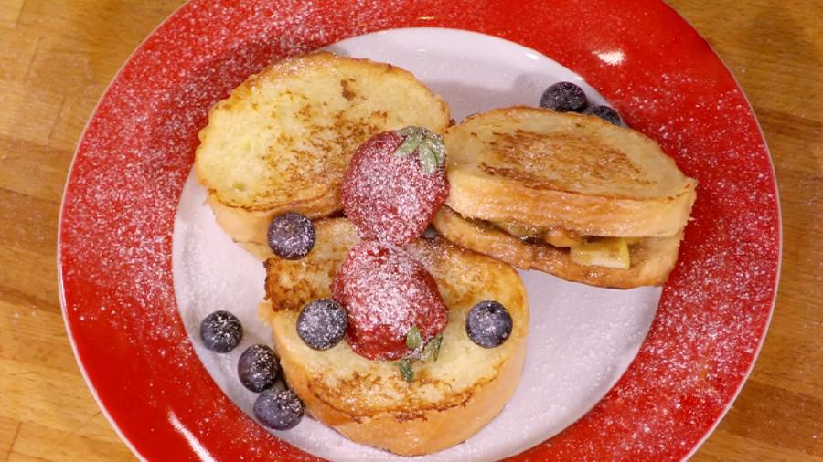 """Французские гренки с яблочной начинкой """"Утро на Монмартре"""""""