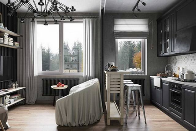 Кухня в квартире студии: лучшие идеи по обустройству с примерами