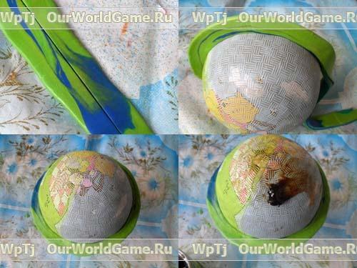 Как сделать шар при помощи монтажной пены