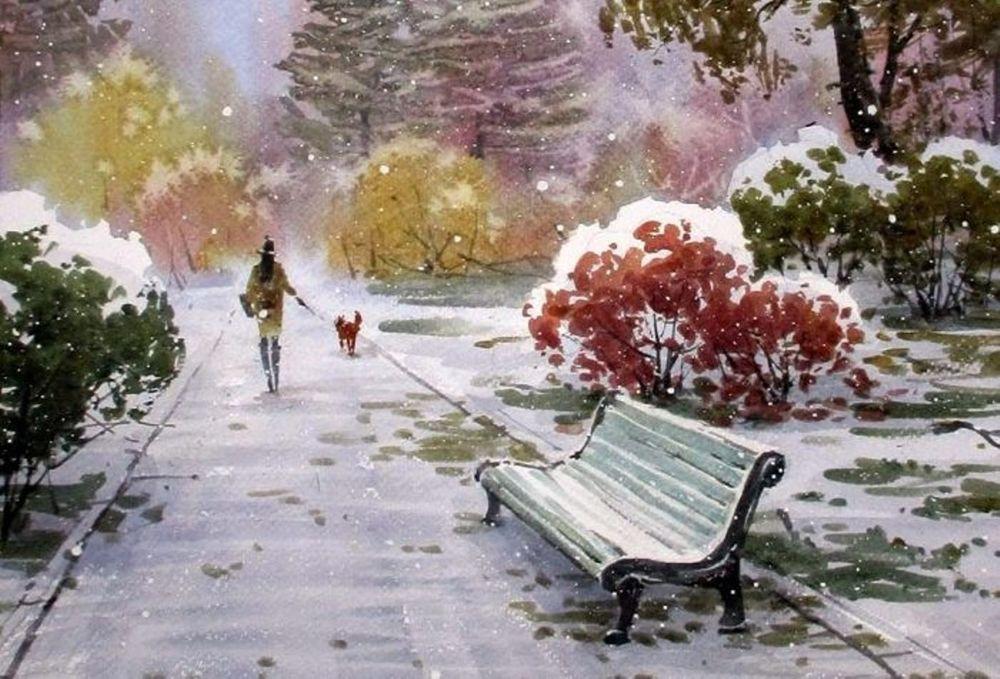 Акварельные пейзажи художника Ильи Горгоца, фото № 14