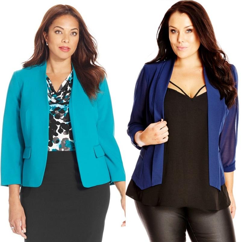 Модные пиджаки 2017 на полных женщин