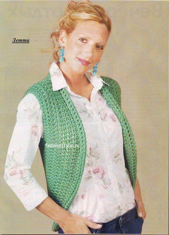 Аквамариновый жилет