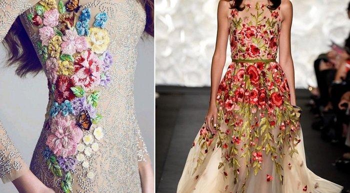 платья с вышивкой из пайеток